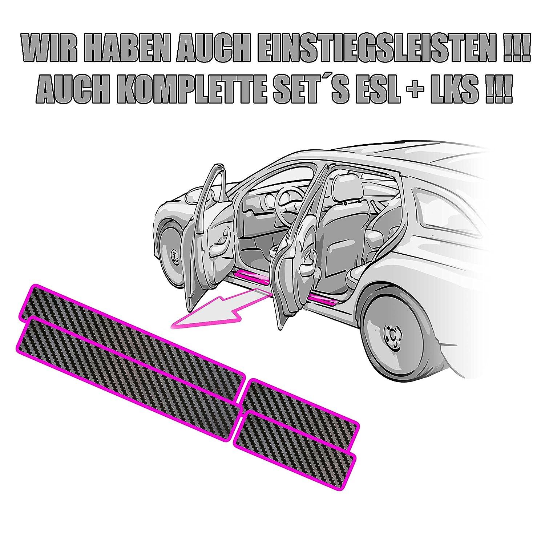 Schutzfolie von CCW/© Ladekantenschutz Citroen Berlingo Multispace in 3D CARBON SCHWARZ Folie passend f/ür Citroen Berlingo Multispace