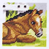 Orchidea Kit à broder pour enfants demi point de croix cheval 9603