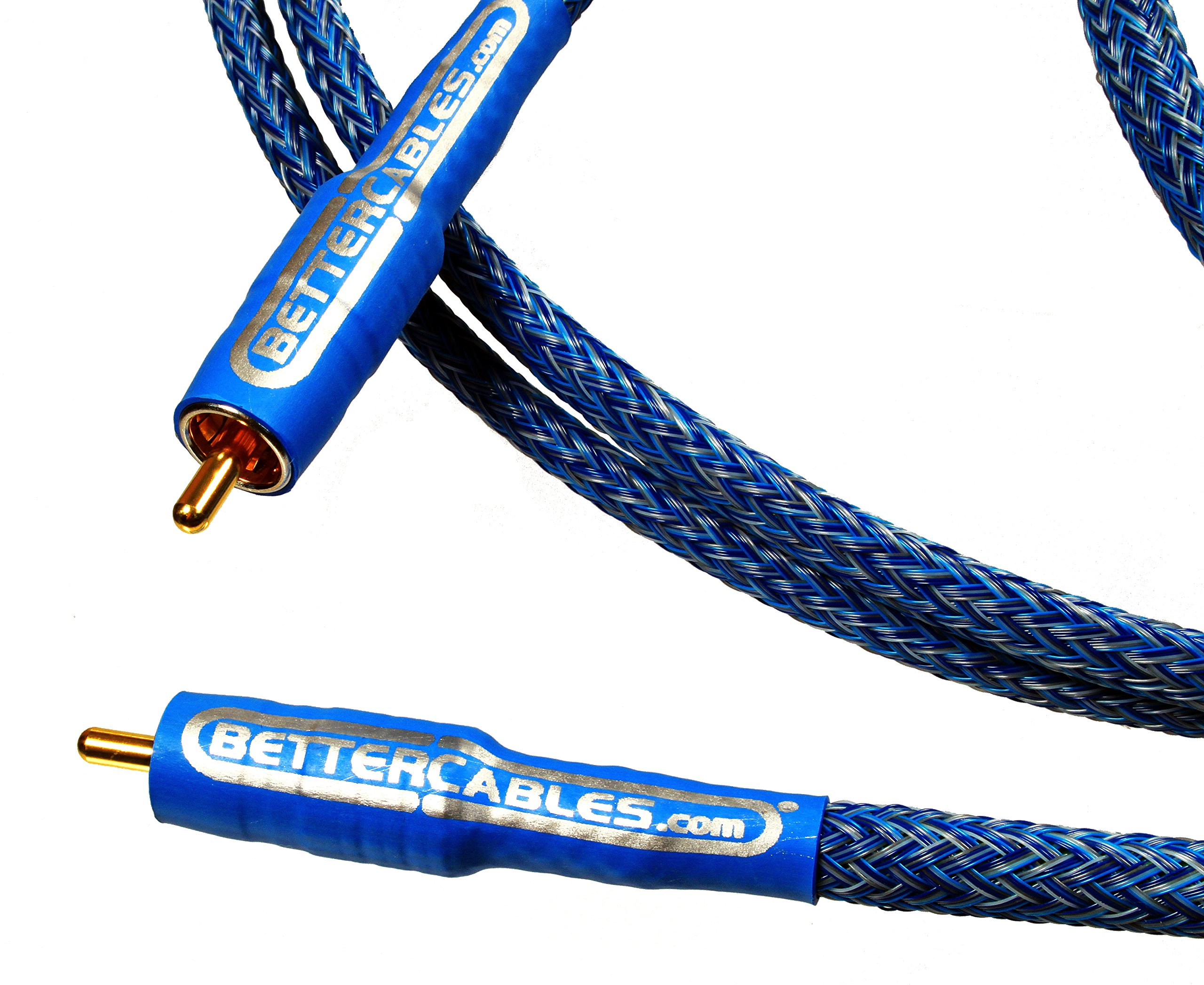 Better Cables Blue Truth Digital Coax Cable - High-End, High-Performance, Silver/Copper Hybrid, Low-Capacitance, Premium Coaxial Cable (RCA Cable) (3 feet (1 Meter))