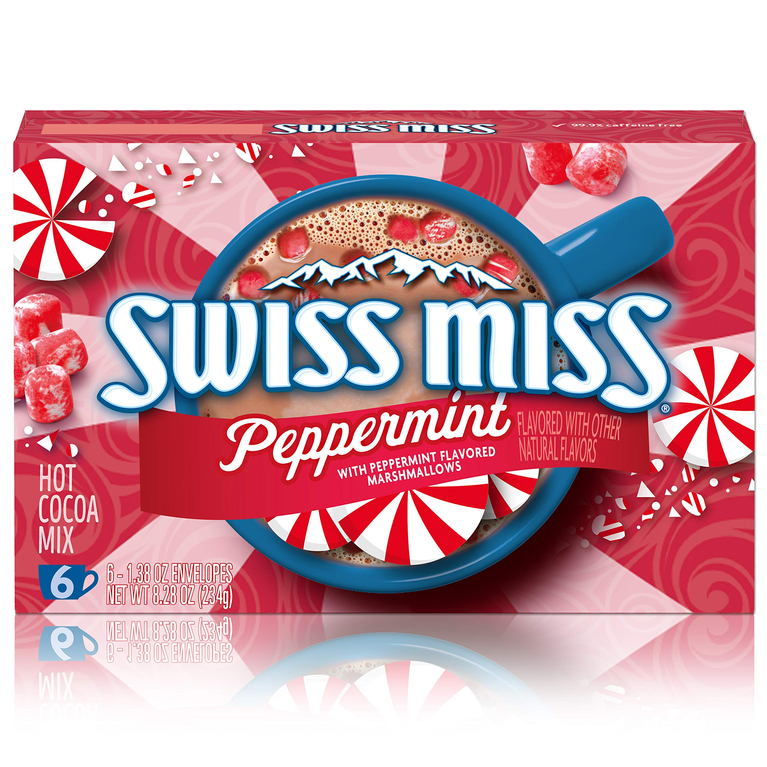 Swiss Miss Peppermint Flavor Hot Cocoa Mix, 1.38 oz. 6-Count