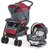 Chicco Cortina CX Travel System with Cortina CX Baby Stroller & Keyfit 30 Infant Car Seat, Lava Red
