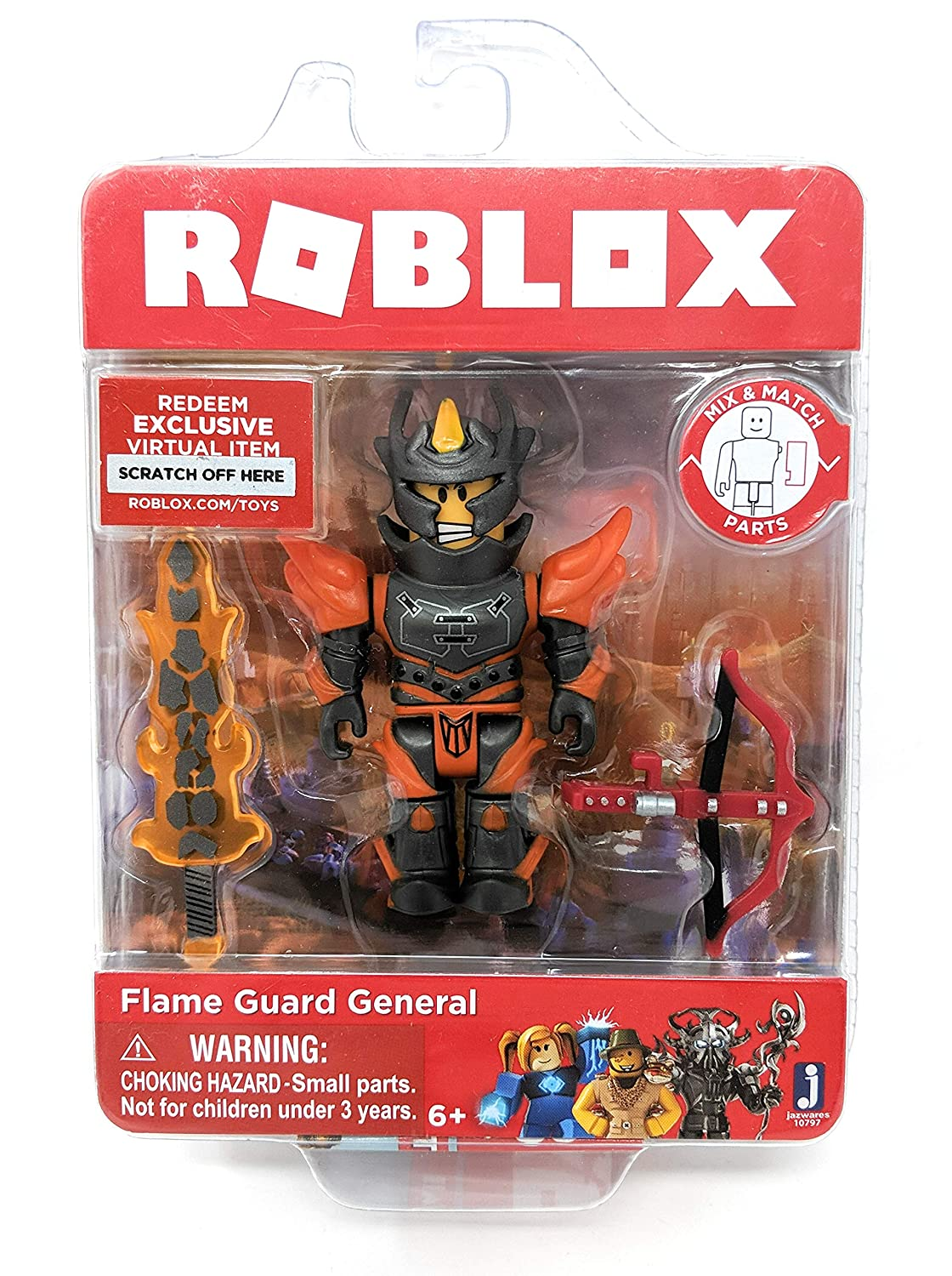 Amazoncom Roblox Flame Guard General Single Figure Core Pack With