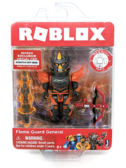 Roblox Flame Guard General Single Figure Core Pack with Exclusive Virtual  Item Code