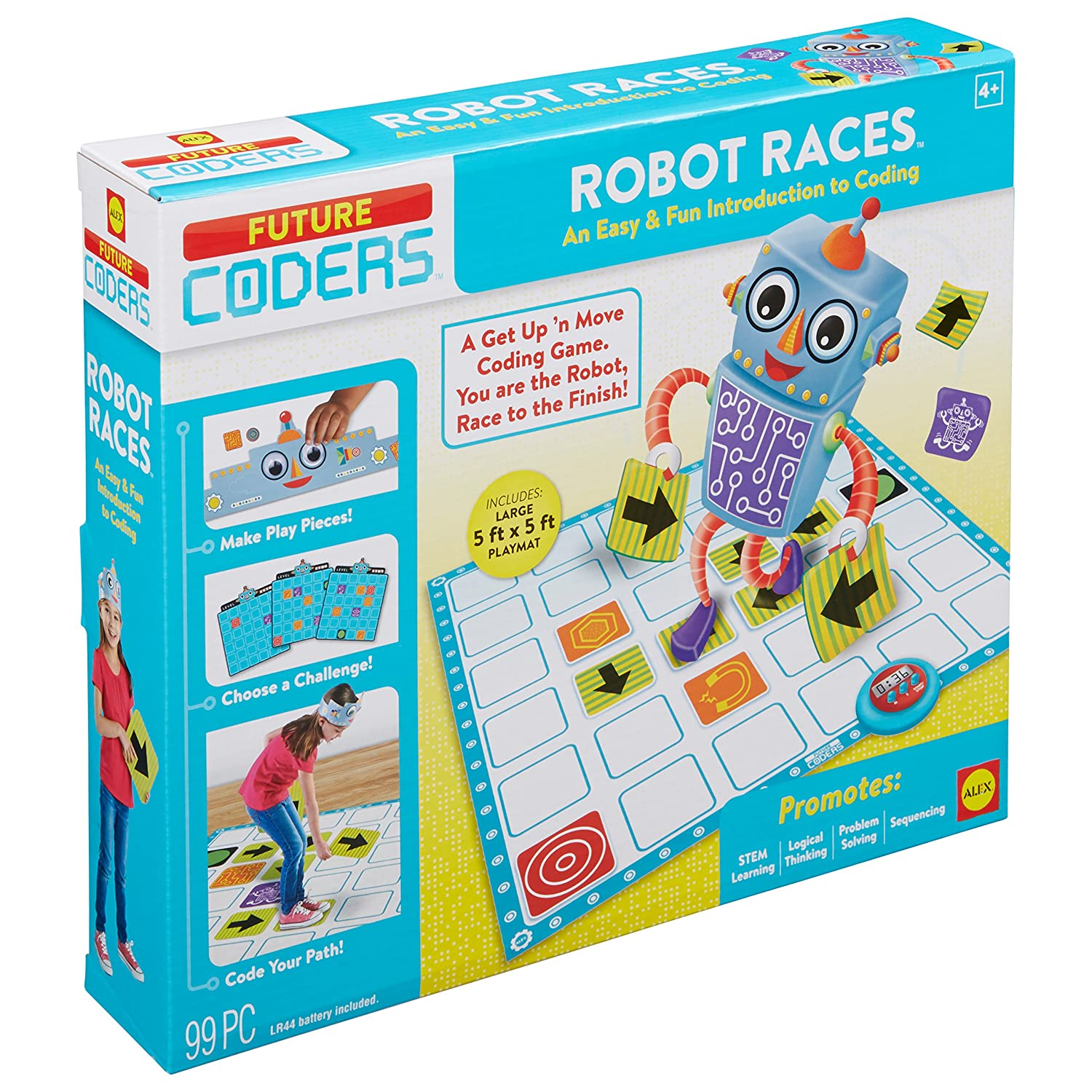 Amazon ALEX Toys Future Coders Robot Races Coding Skills Kit