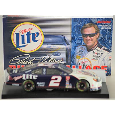 NASCAR 2000 - Action Rusty Wallace - #2 Ford Taurus - Miller Lite - 1 of 10,500 - 1:24 Scale - Die Cast Metal - Limited Edition - Out of Production - New: Toys & Games