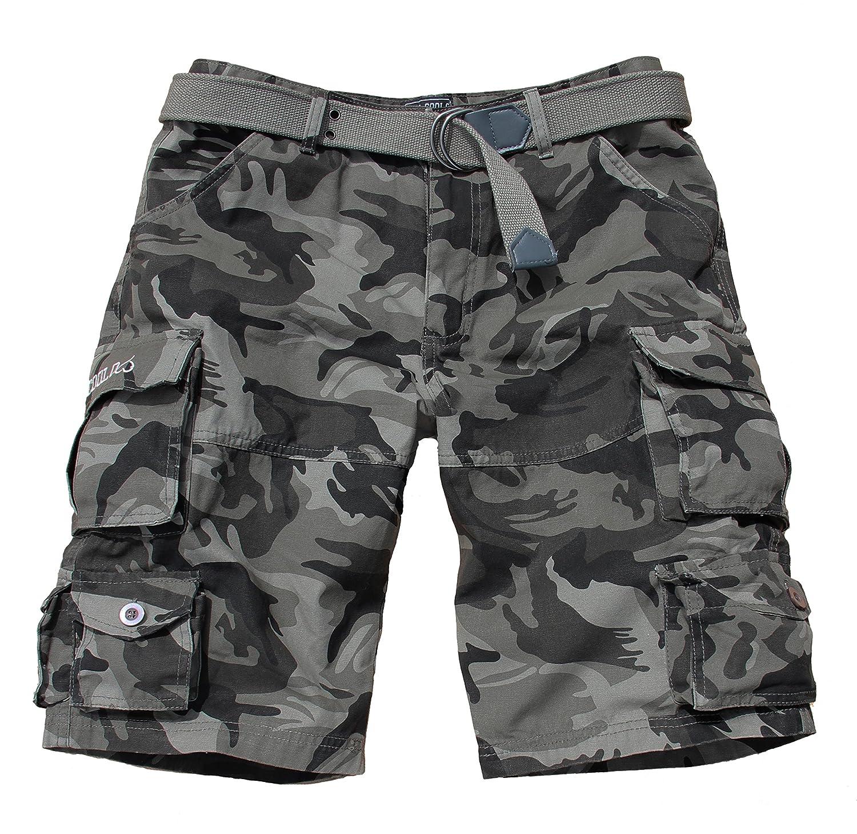 Fun Coolo Pantaloncini corti Bermuda Cargo short con tasconi laterali, con cintura