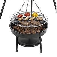 Cary One Size Schwenkgrill Tepro XXL schwarz Garten ✔ rund dreieckig ✔ schwenkbar ✔ Grillen mit Holzkohle ✔ mit Dreibeinen