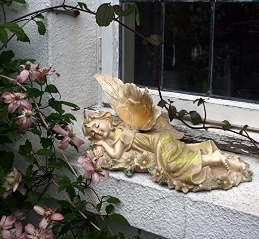 Jardín de hadas adorno, 32 cm, adorno de jardín, gnomo, hada del jardín, Troll, Imp: Amazon.es: Jardín