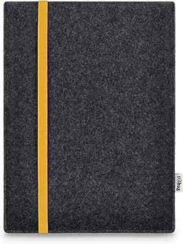Estuche para Apple iPad Pro 12.9 (2015) | Bolsa de fieltro de lana Merino | Modelo LEON en antracita/amarillo | Estuche protector para tabletasas Made in Germany: Amazon.es: Electrónica