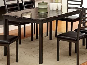 Furniture Of America Casella Faux Marble Top Dining Table, 60 Inch