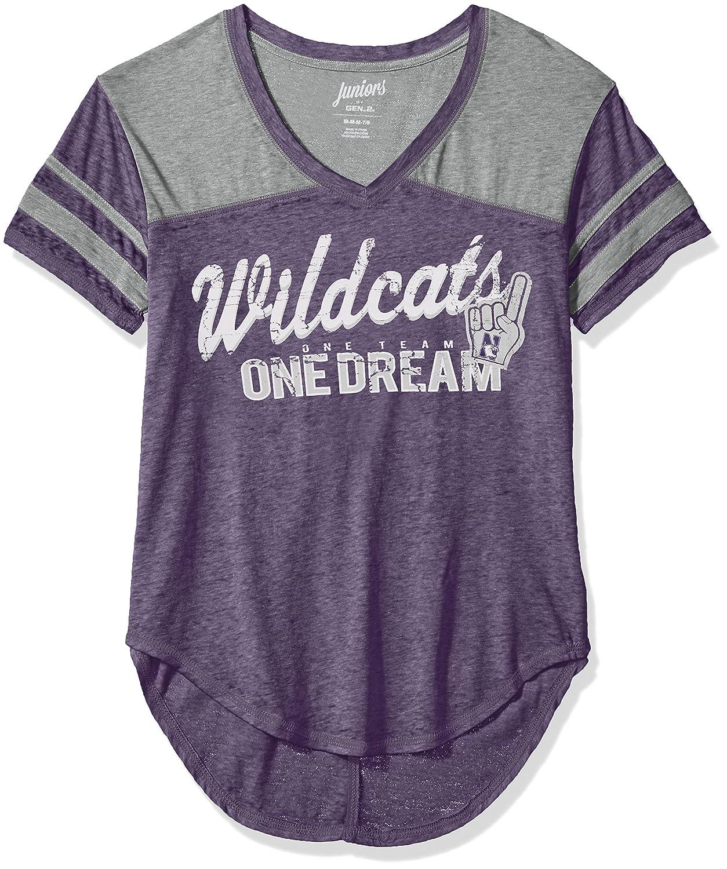 Team Color NCAA Northwestern Wildcats Juniors Outerstuff Vintage Short Sleeve Football Tee 7-9 Medium