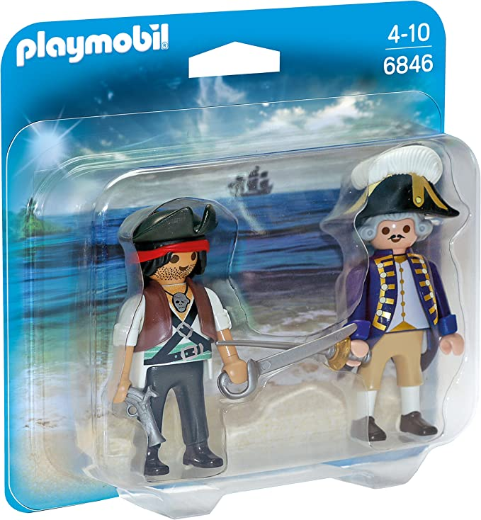 PLAYMOBIL Duo Pack - Duo Pack Pirata y Soldado (6846): Amazon.es: Juguetes y juegos