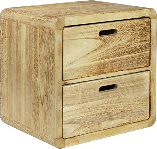 NEG Schubladen-Tisch VINUJA 3-tlg Couchtisch//Nachttisch Holz shabby chic weiß