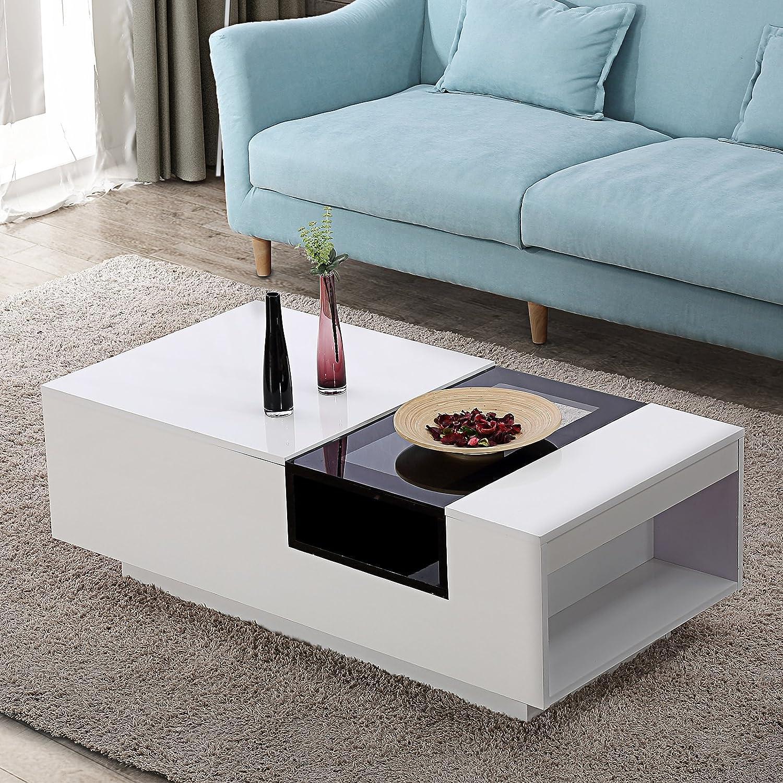 Amazon Com Mecor Modern Square Design Console Table Glass Coffee