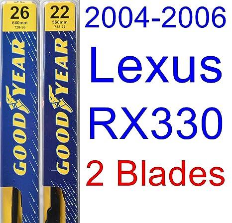 2004 – 2006 Lexus RX330 hoja de limpiaparabrisas de repuesto Set/Kit (Goodyear limpiaparabrisas