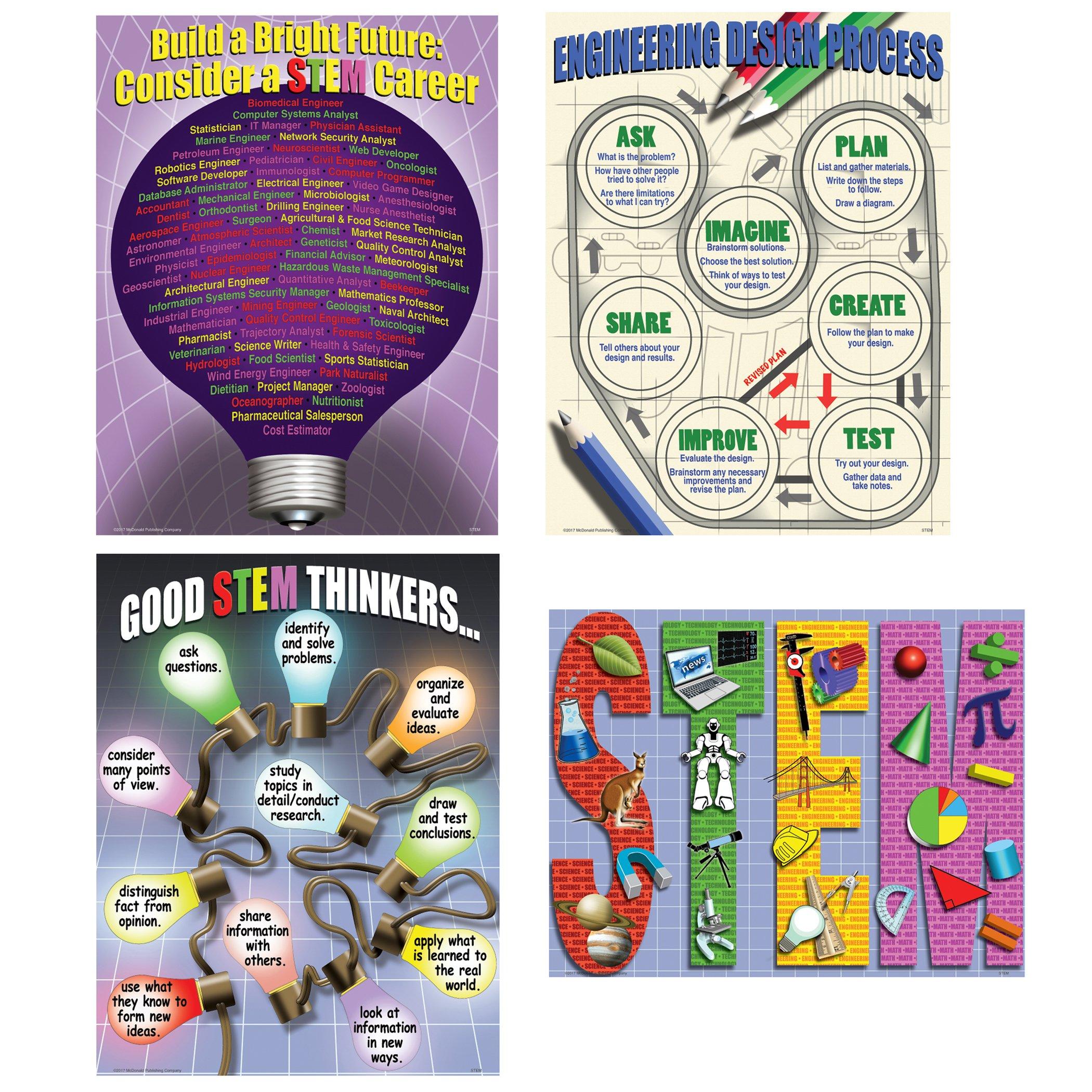 McDonald Publishing MC-P095 Stem Teaching Poster Set, Set of 4