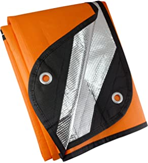 UST Survival Blanket/Tarp 2.0 with Windproof and Waterproof Material for Emergency, Camping,