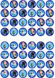 48 Frozen Edible PREMIUM THICKNESS SWEETENED VANILLA, Wafer Rice Paper Cupcake Toppers/Decorations