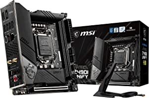 MSI MEG Z490I Unify Gaming Motherboard (LGA 1200, Intel 10th Gen, M.2, USB 3.2 Gen 2, DDR4, Wi-Fi 6, SLI, CFX, Gigabit LAN, Thunderbolt 3, Mini-ITX)