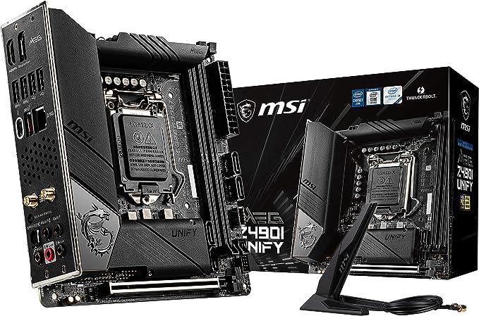 Msi Meg Z490i Unify Gaming Motherboard Lga 1200 Intel Computers Accessories