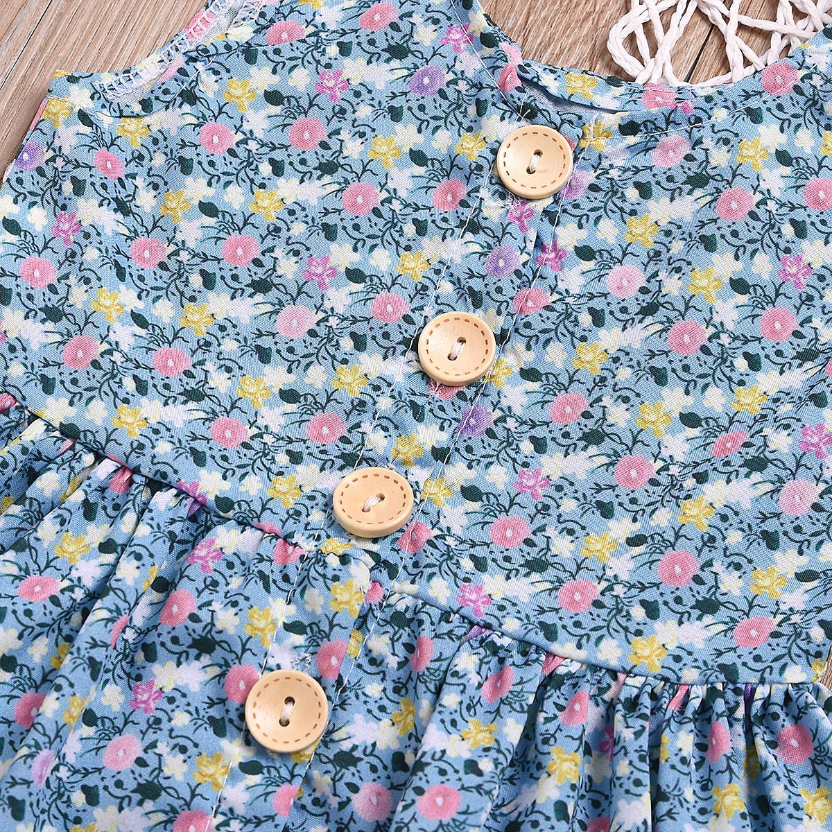 Kids Toddler/Baby Girls Shorts Outfits Set Floral Print Ruffle Dress Shirt Tops+Short Pants Summer Dresses 3Pc Clothes Set