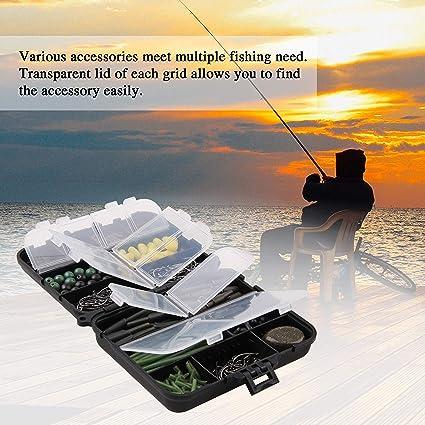 8# Juego de anzuelos para pesca de carpa y carpa Milepet con un total de 11 accesorios para pesca de carpa