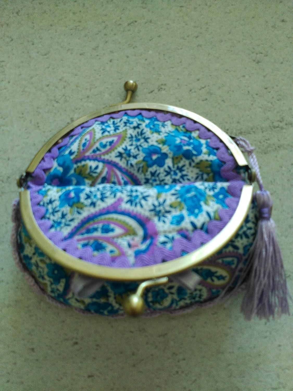 Monedero hecho a mano tela flores.: Amazon.es: Handmade