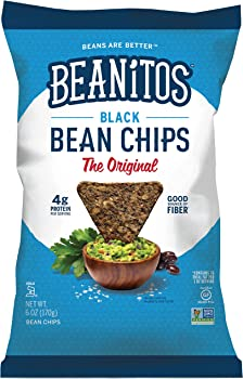 6-Pack of Beanitos 6 Ounce Black Bean Chips with Sea Salt