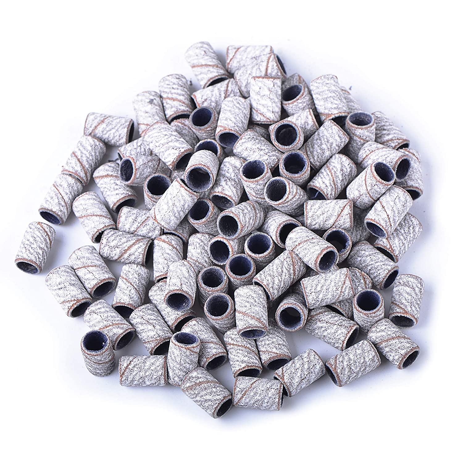 Spetool 100pcs Sanding Ring Bands 150 Grinding Polisher For Nail Drill Files Manicure Tools Zebra Beauty Amazon Com