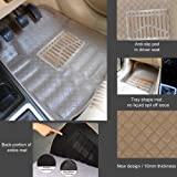 Oshotto Premium Quality Car Tray Mat for Maruti Ertiga (Set of 4, Beige)