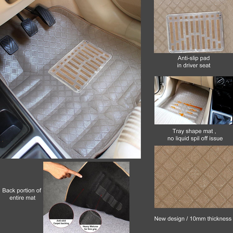 3D Car Mat Compatible with Mahindra TUV (Set of 4)