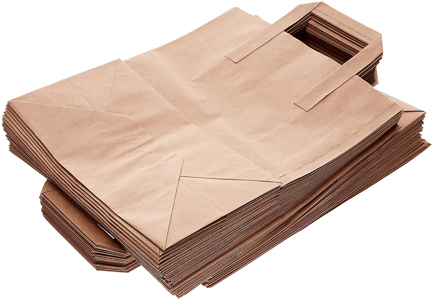 70643de27e7a The Paper Bag Company Brown Paper Carrier Bags with Flat Handles