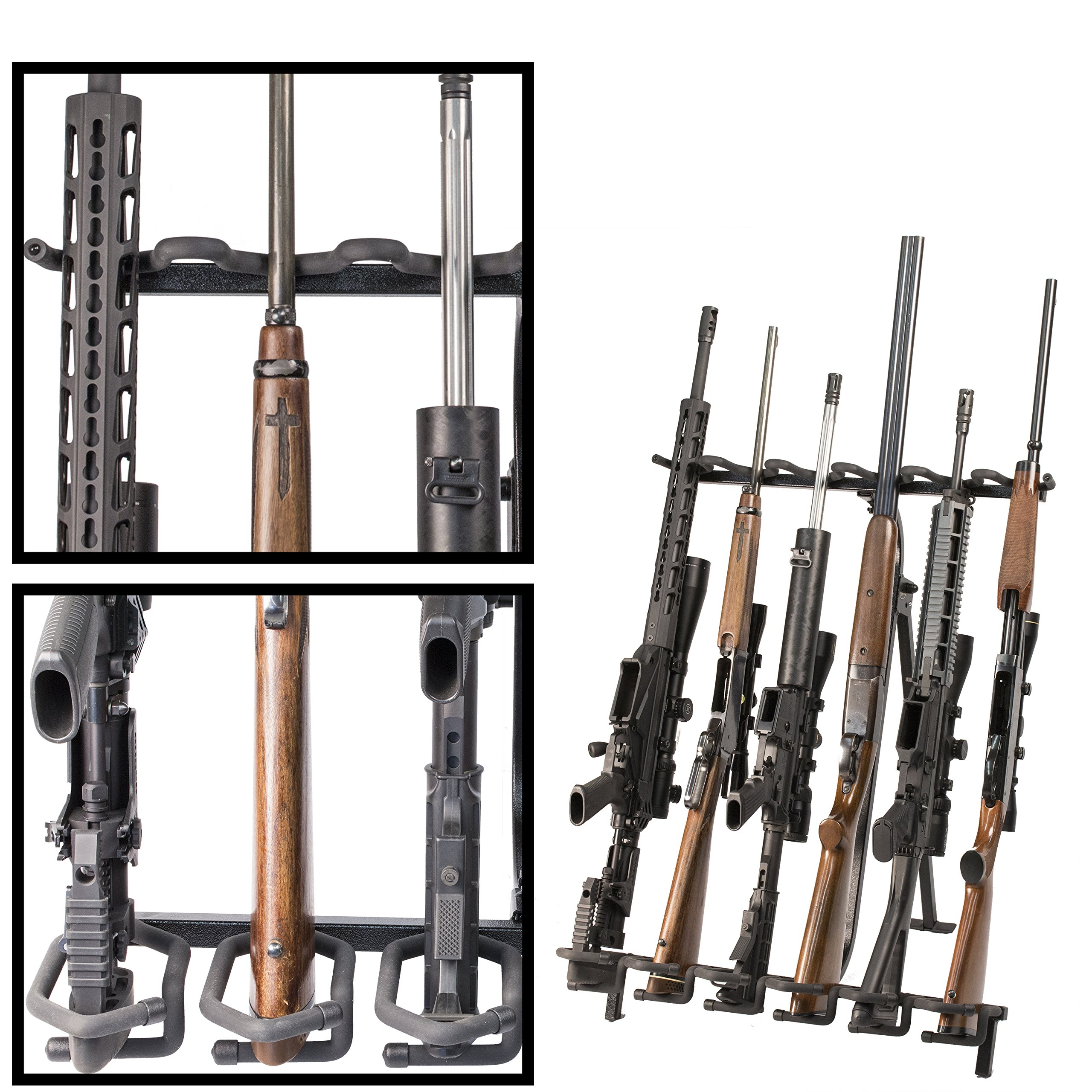 Hold Up Displays Portable Gun Rack and Bow Holder - Tactical Freestanding Folding Firearm Stand Holds Any Rifle or Bow - Keeps Guns Organized at The Shooting Range - Made in USA with Heavy Duty Steel by Hold Up Displays (Image #4)