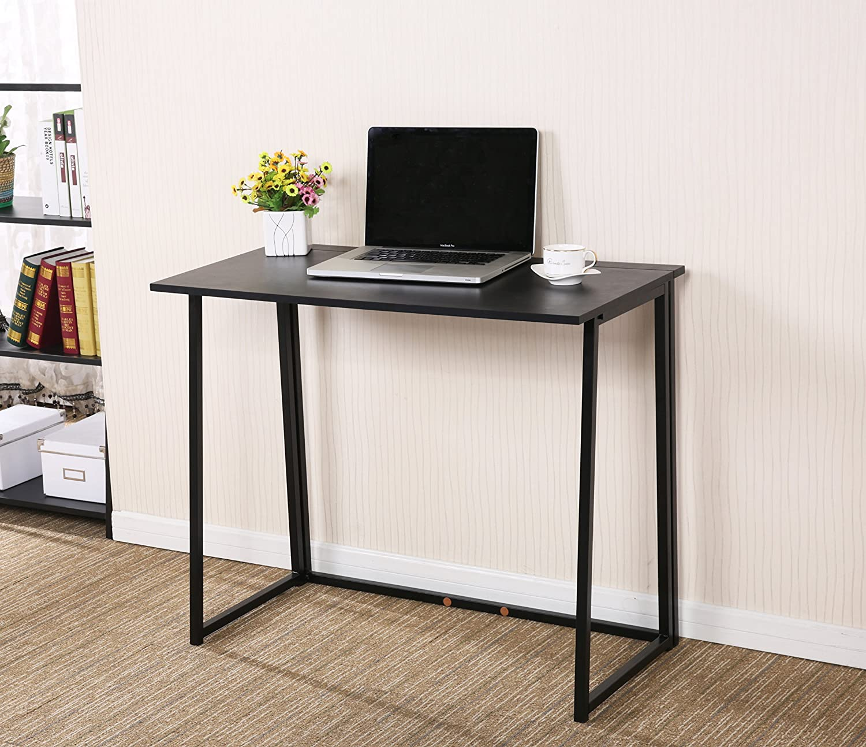 CherryTree Furniture Compact Folding Computer Desk Laptop Desktop Table In  Black: Amazon.co.uk: Kitchen U0026 Home