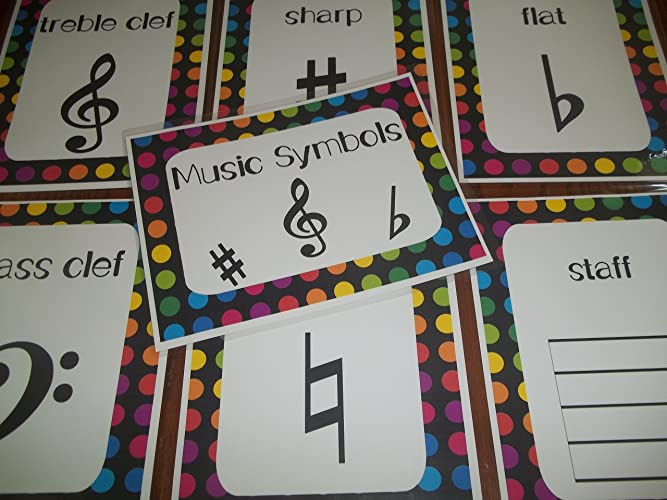 9 Laminated Music Symbols Teacher Classroom Signs  8 5 inches x 11 inches   Class Organization Charts