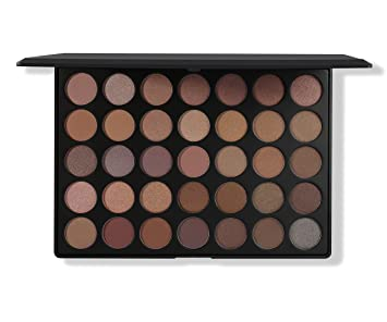 amazon com morphe pro 35 color eyeshadow makeup palette taupe