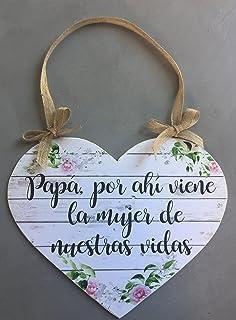 Cartel Aquí Viene la Novia | Decoración de boda (40x25cm ...