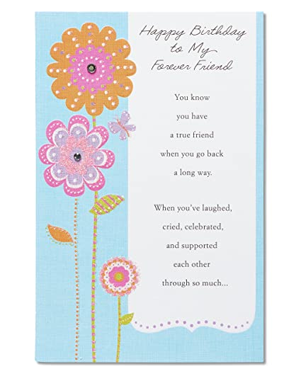 Amazon American Greetings Floral Birthday Card For Friend With