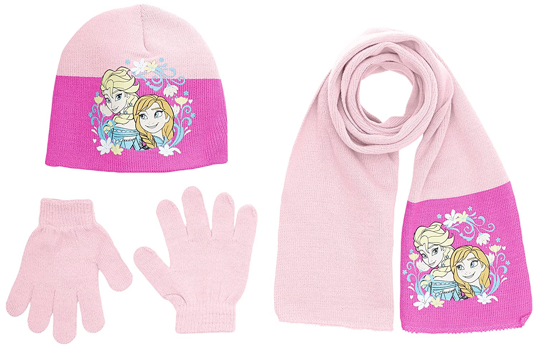 Disney Girl's Frozen Hat, Scarf & Gloves Set Disney Girl's Frozen Hat HO4093