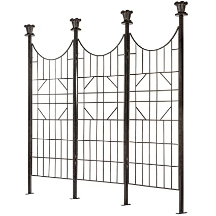 Genial H Potter Large Iron Garden Trellis Screen/Patio Screen Fence