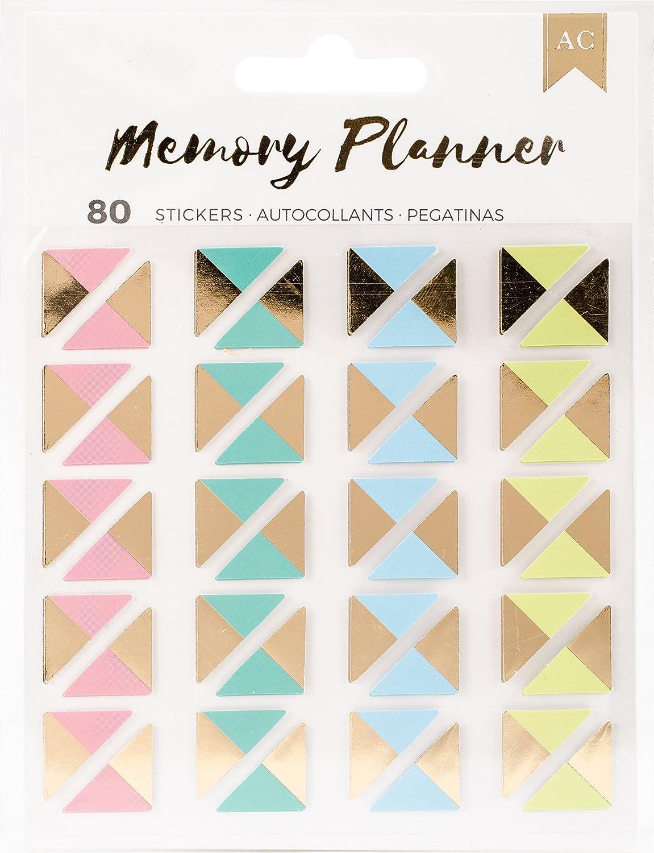 American Crafts Memory Planner 80 Piece Photo Corner Stickers 374981