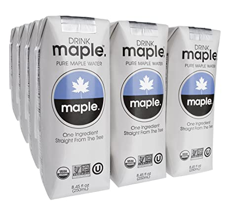 DRINKmaple Pure Maple Water, 8.45 Fluid Ounce (Pack of 12): Amazon ...