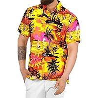 LA LEELA   Funky Camisa Hawaiana   Señores   XS-7XL   Manga Corta   Bolsillo Delantero   impresión De Hawaii   Playa…