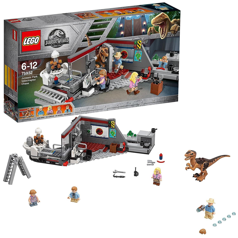 LEGO Jurassic World - Caza del Velociraptor en Parque Jurásico (75932): Amazon.es: Juguetes y juegos