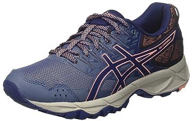 6e71dec9d822 ASICS Women s s Gel-Sonoma 3 Trail Running Shoes Smoke Indigo Blue Begonia  Pink 5649