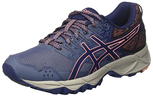 4a688aaca6b5 ASICS Women's Gel-Sonoma 3 Trail Running Shoes, Smoke Indigo Blue/Begonia  Pink