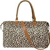Geechen Weekender Bag for Women - Travel Cute Overnight Duffle Bag with Straps (Leopard)