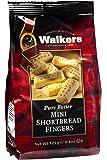Walkers Shortbread 迷你手指饼干,4.4盎司/125克(6袋装),传统简单纯黄油酥饼饼干,产自苏格兰高地,优质成分制作,不含人工香料