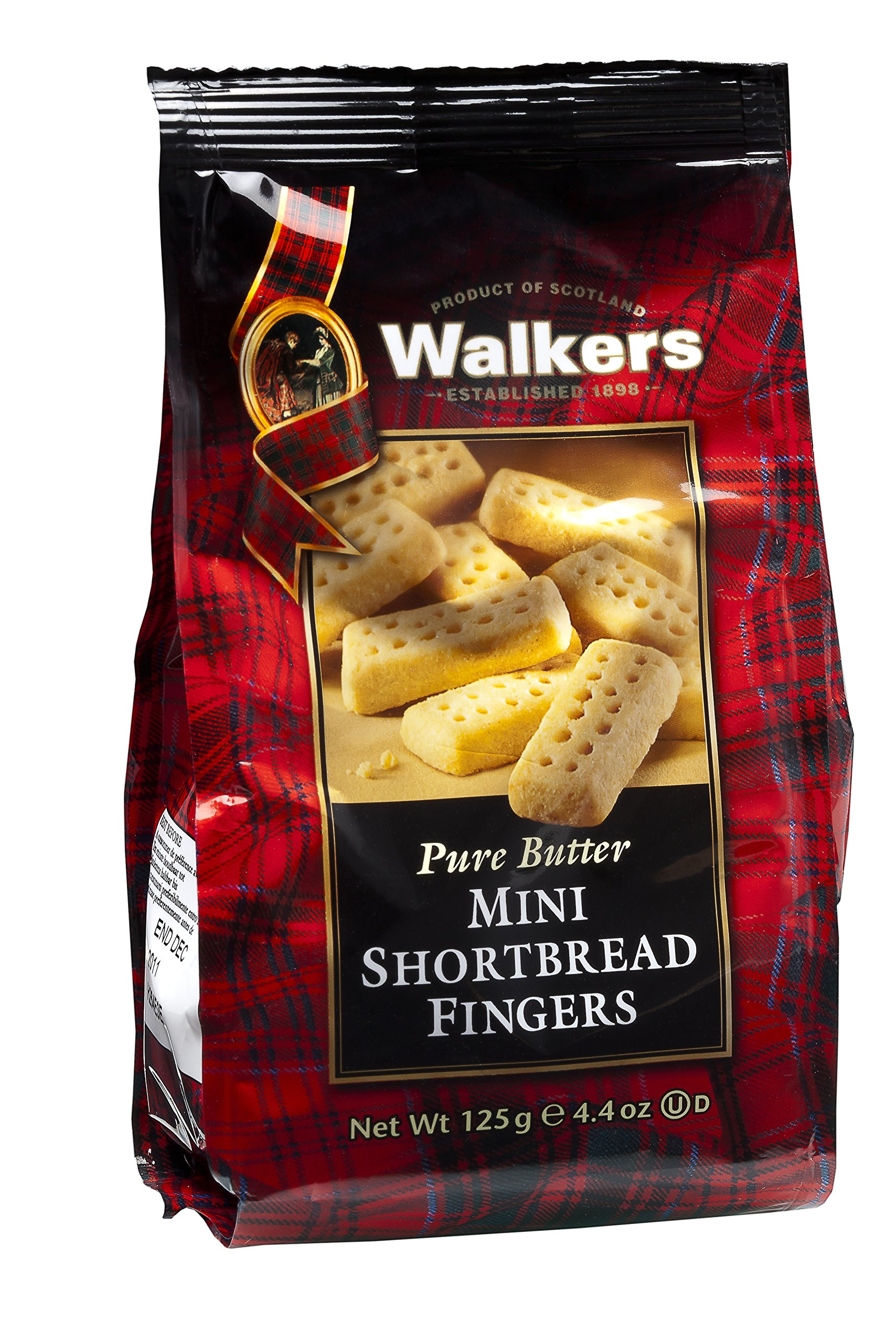 Walkers Shortbread Mini Fingers, Traditional Pure Butter Shortbread Cookies, 4.4-Ounce (Pack of 6) by Walkers Shortbread