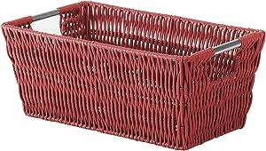 Whitmor Rattique Small Shelf Tote Red